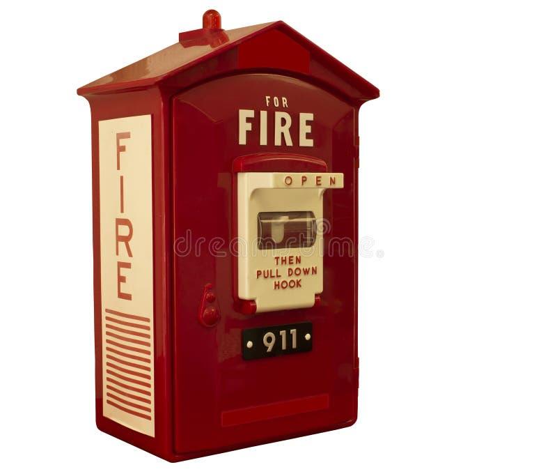 Caja alarma de incendio foto de archivo