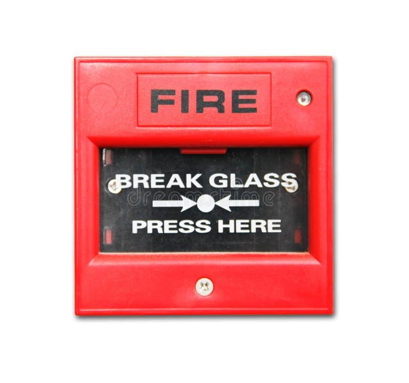 Caja alarma de incendio imagen de archivo libre de regalías