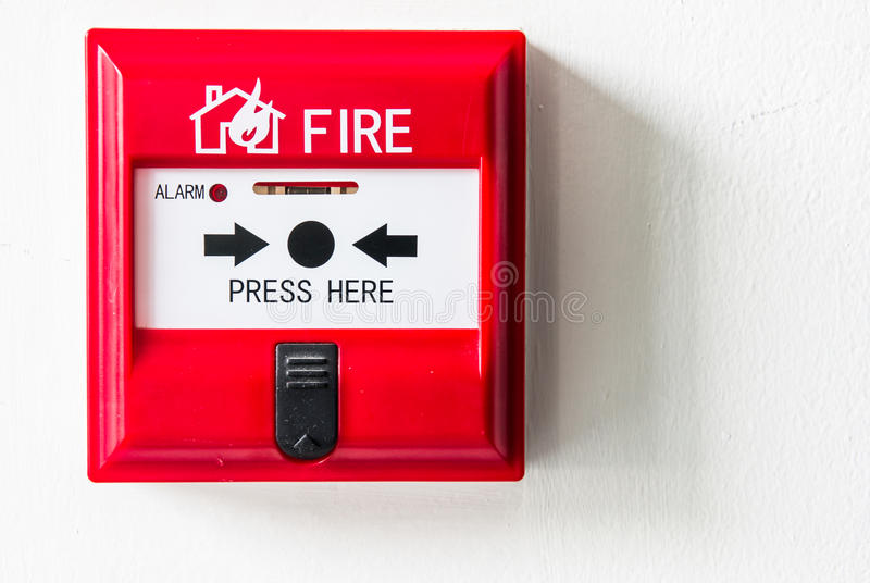Caja alarma de incendio imágenes de archivo libres de regalías