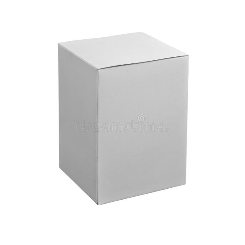 Caja blanca foto de archivo libre de regalías