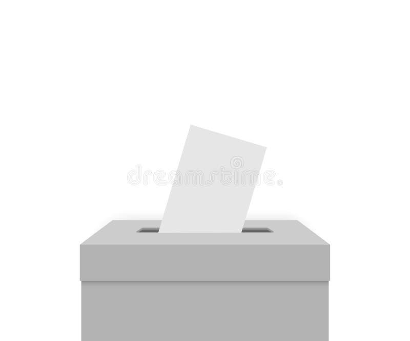 Caja blanca de la elección ilustración del vector