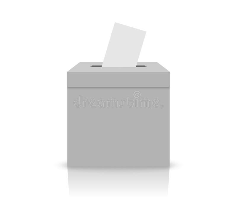 Caja blanca de la elección stock de ilustración