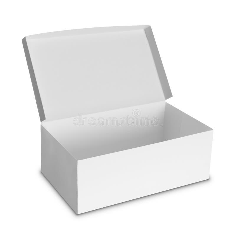Caja blanca del paquete para los productos imagenes de archivo