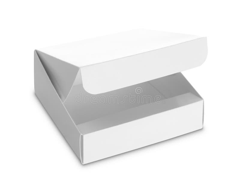 Caja blanca del paquete para los productos foto de archivo
