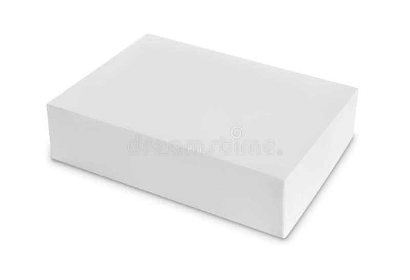 Caja blanca del paquete para los productos foto de archivo libre de regalías