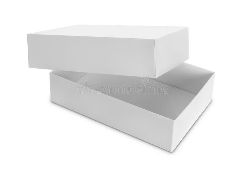 Caja blanca en blanco imágenes de archivo libres de regalías