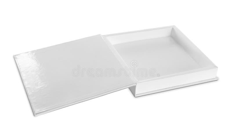 Caja blanca en blanco fotos de archivo