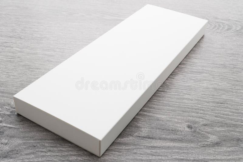 Caja blanca para la mofa para arriba imagen de archivo