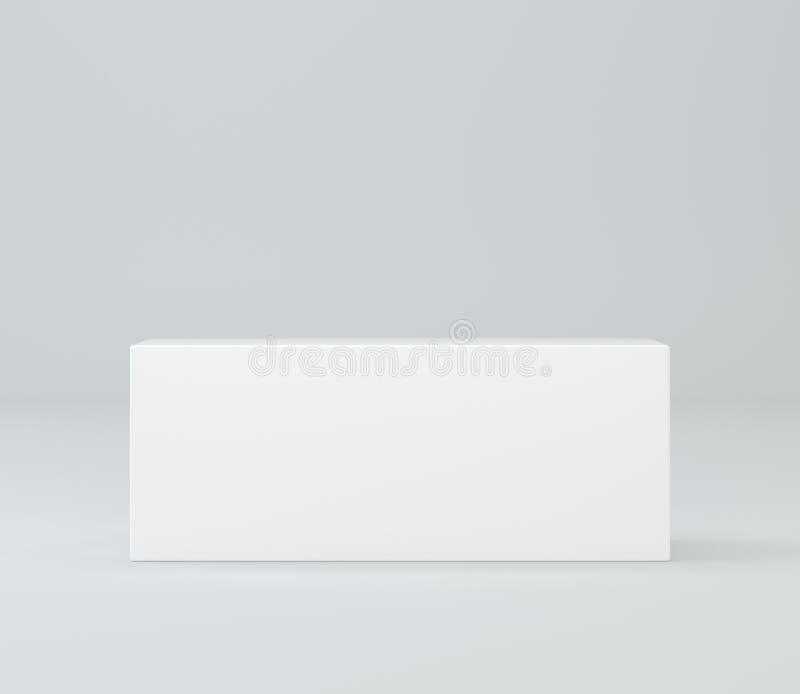 Caja blanca realista, cubo, podio o pedestal en blanco for blanco cualquier objeto al lugar 1 ilustración 3D libre illustration