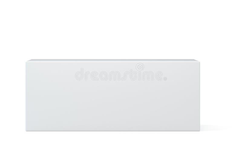 Caja blanca realista, cubo, podio o pedestal en blanco for blanco cualquier objeto al lugar 1 ilustración 3D stock de ilustración