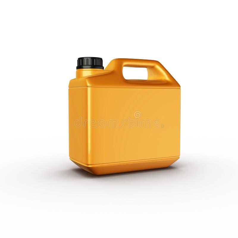 Caja, botella de petróleo de motor ilustración del vector