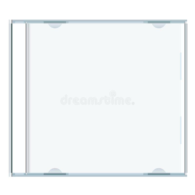 Caja cd en blanco ilustración del vector