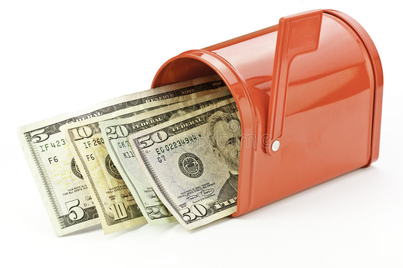 Caja con el dinero imágenes de archivo libres de regalías
