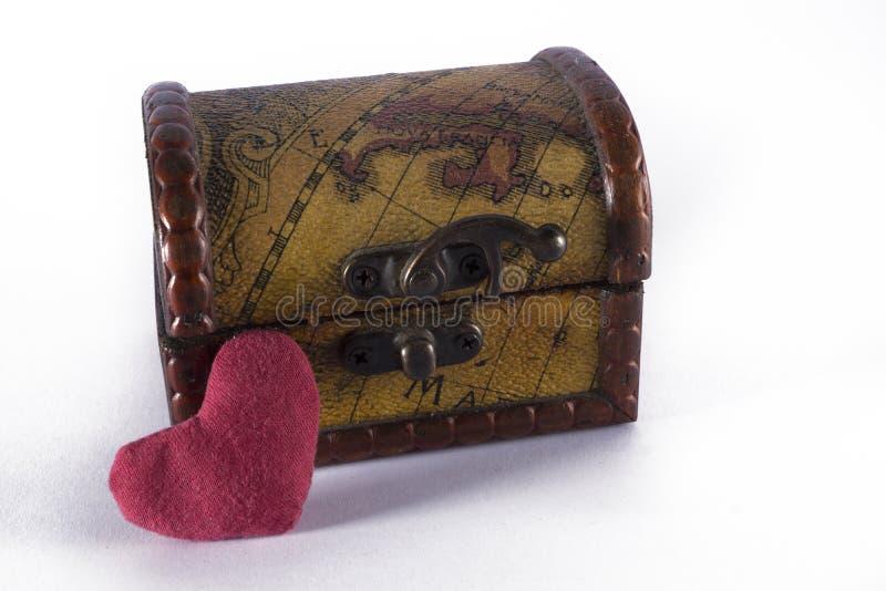 Caja con el hogar imagen de archivo