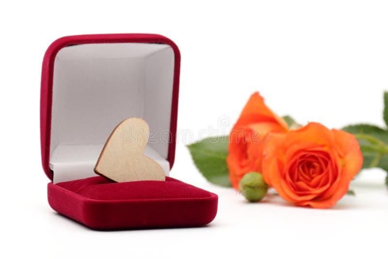 Caja con el regalo de la joyería imágenes de archivo libres de regalías