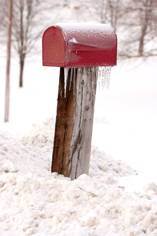 Caja con hielo y nieve fotografía de archivo libre de regalías