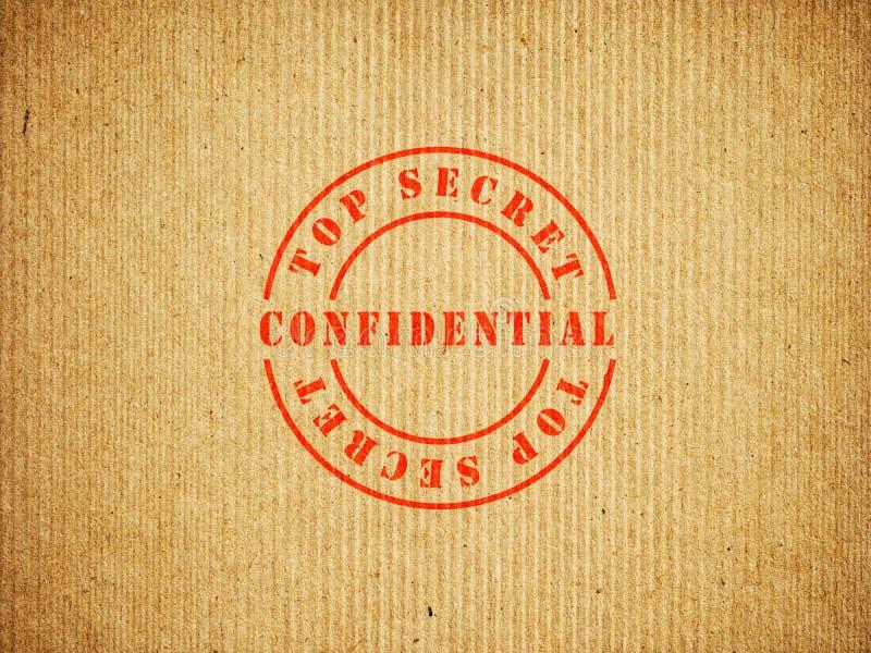 Caja confidencial de alto secreto imagenes de archivo