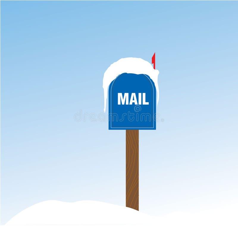 Caja cubierta en nieve ilustración del vector