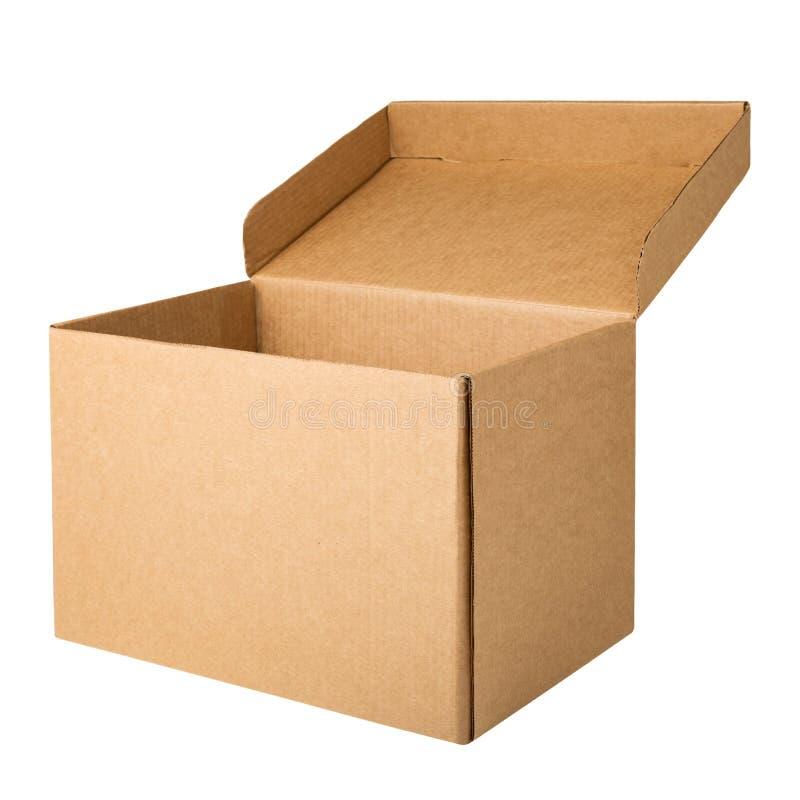 Caja de almacenamiento del archivo de la cartulina con la tapa abierta fotos de archivo libres de regalías