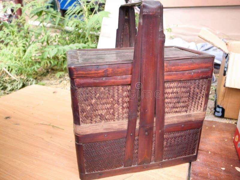 Caja de bamb? de la comida fotografía de archivo
