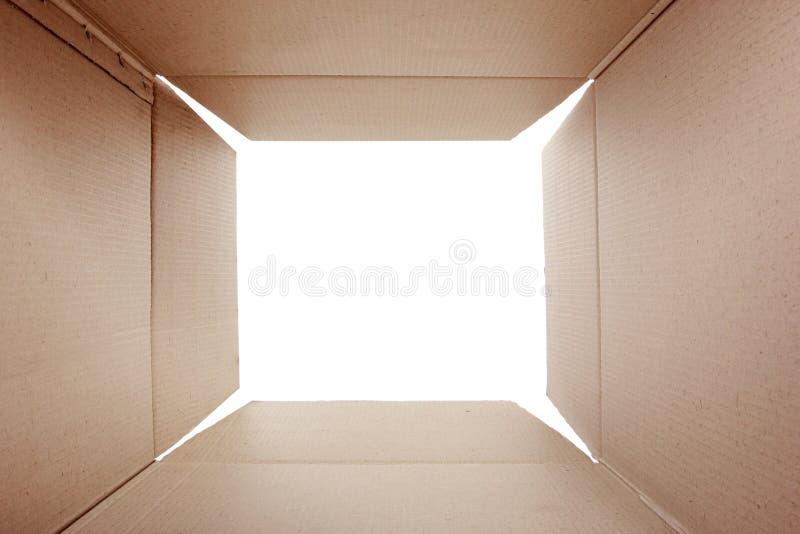 Caja de cartón abierta imagen de archivo libre de regalías