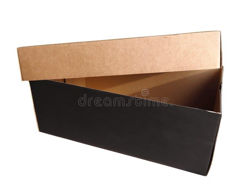 Caja de cartón abierta fotografía de archivo