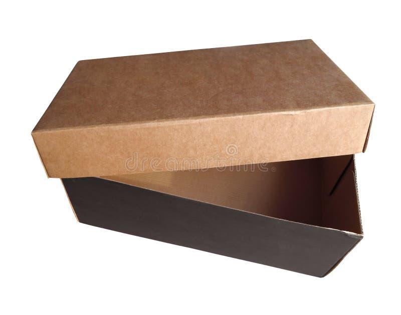 Caja de cartón abierta fotos de archivo