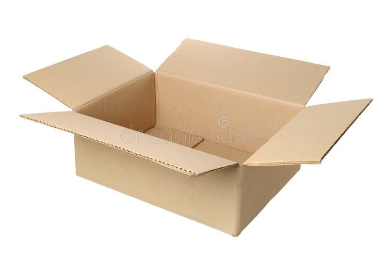 caja de cartón aislada imágenes de archivo libres de regalías