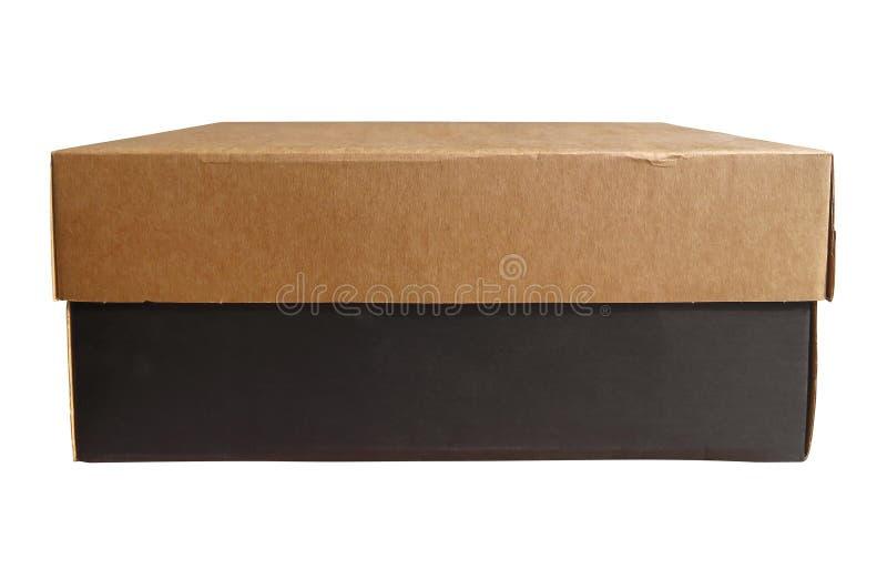 Caja de cartón aislada fotos de archivo