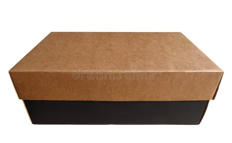 Caja de cartón aislada imagen de archivo libre de regalías