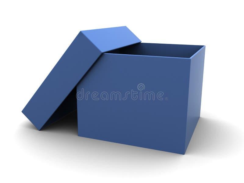 Caja de cartón azul stock de ilustración