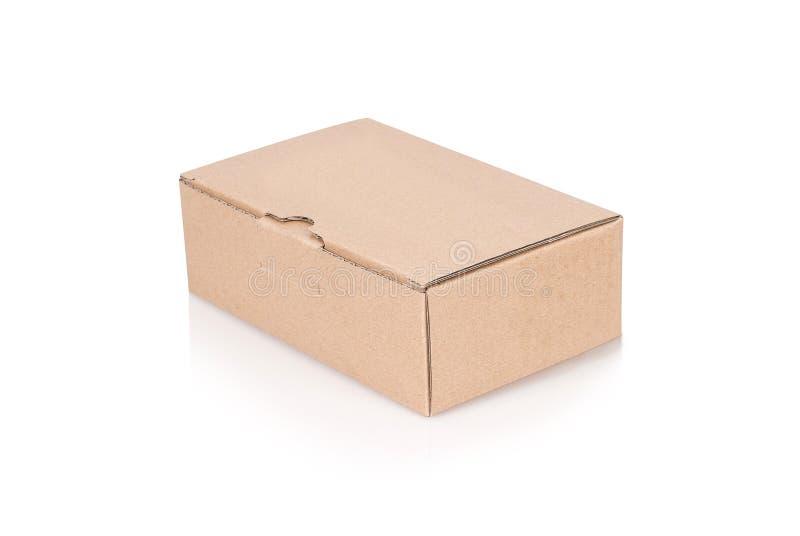 Caja de cartón cerrada foto de archivo