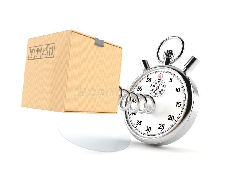 Caja de cartón con el cronómetro libre illustration