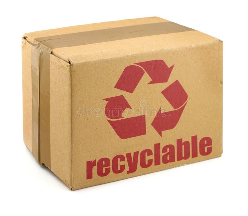 Caja de cartón con el símbolo #2 fotografía de archivo libre de regalías