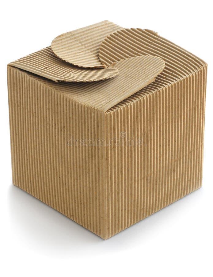 Caja de cartón de Brown foto de archivo libre de regalías
