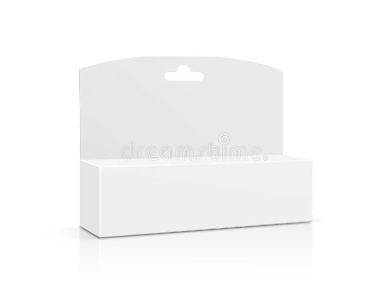 Caja de cartón de empaquetado en blanco del Libro Blanco ilustración del vector