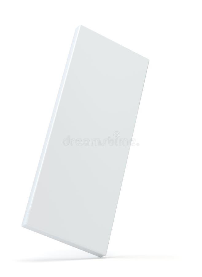 Caja de cartón de papel de empaquetado del producto blanco en blanco del paquete ilustración 3D stock de ilustración
