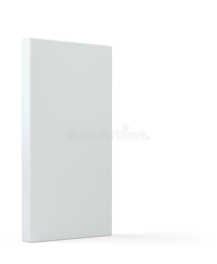 Caja de cartón de papel de empaquetado del producto blanco en blanco del paquete ilustración 3D libre illustration