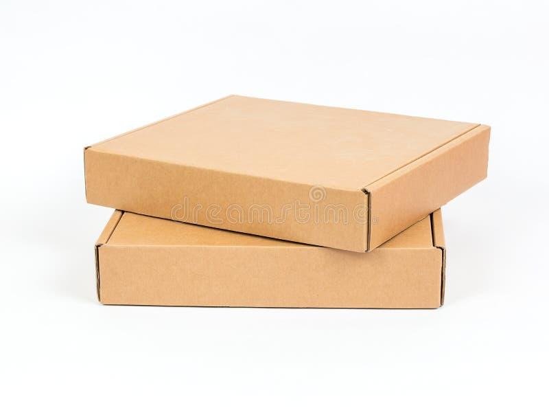 Caja de cartón vacía imagen de archivo