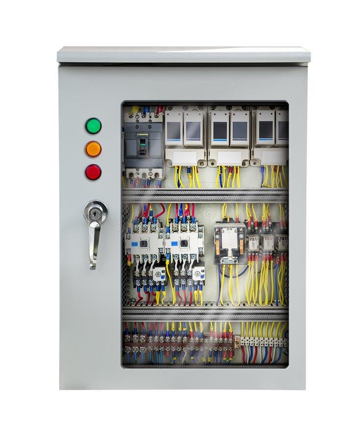 Caja de control eléctrica de la centralita telefónica fotos de archivo libres de regalías