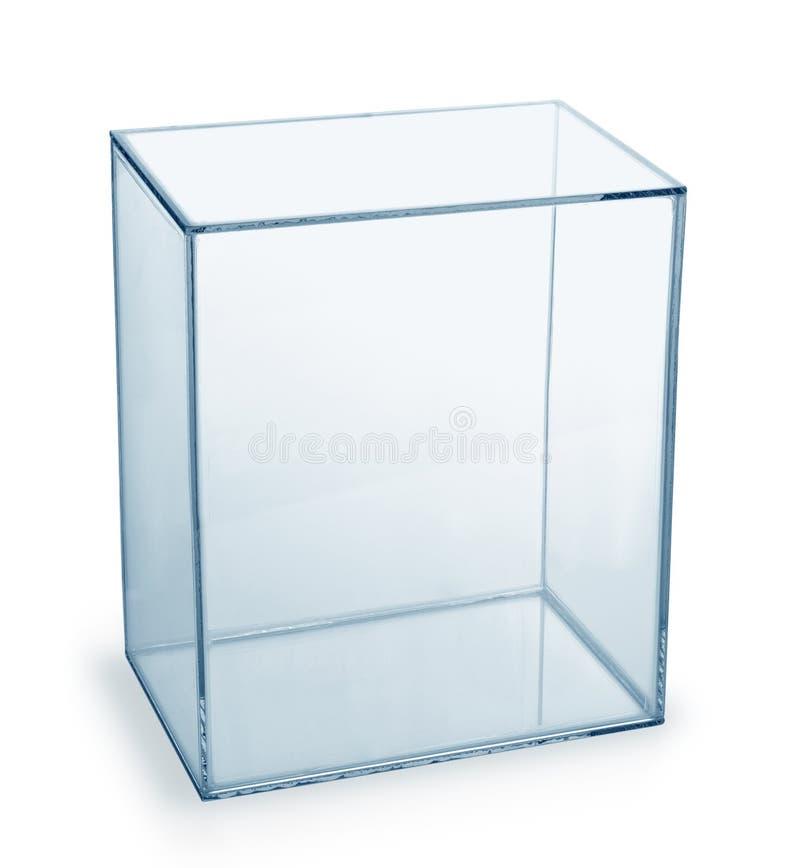 Caja de cristal vacía imagen de archivo libre de regalías
