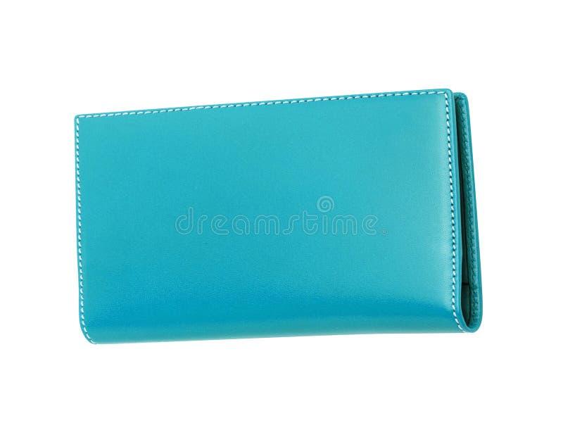 Caja de cuero azul aislada imagen de archivo libre de regalías