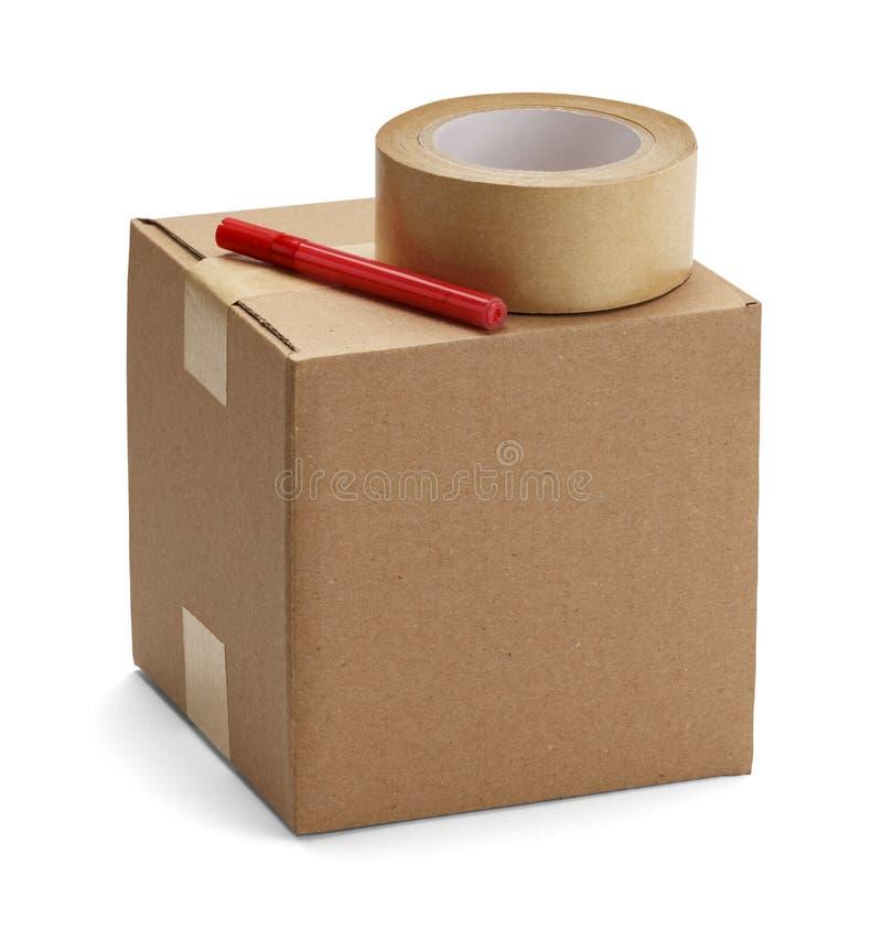 Caja de embalaje imágenes de archivo libres de regalías