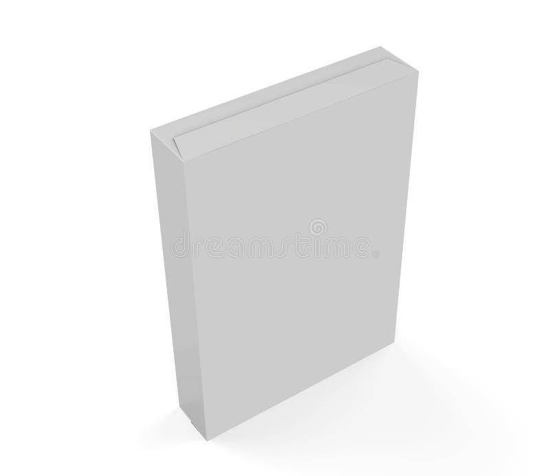 Caja de empaquetado blanca, ejemplo 3D libre illustration