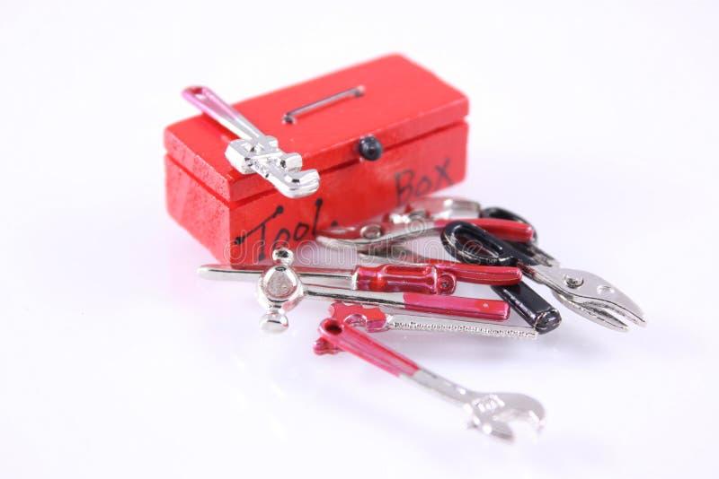 Caja de herramientas y herramientas imagen de archivo libre de regalías