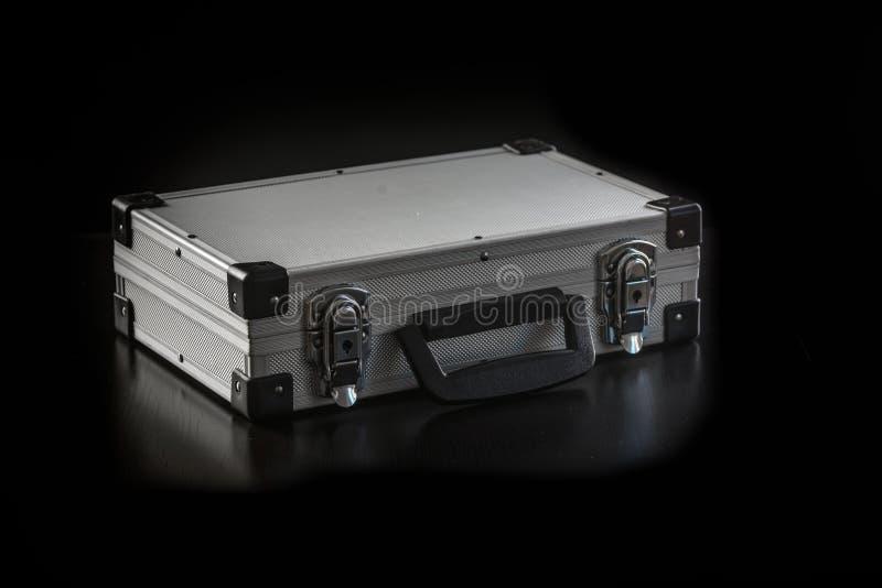 Caja de la caja metálica de aluminio foto de archivo