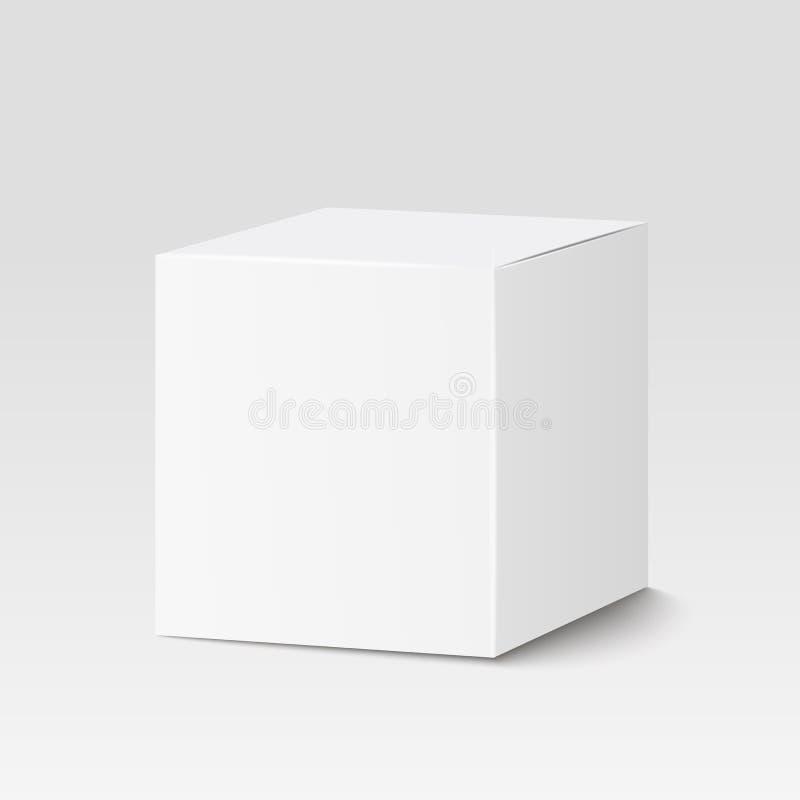 Caja de la casilla blanca Caja de cartón, envase, empaquetando Ilustración del vector ilustración del vector
