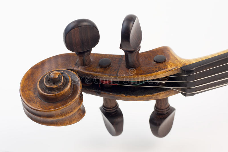 Caja de la clavija del violín imágenes de archivo libres de regalías