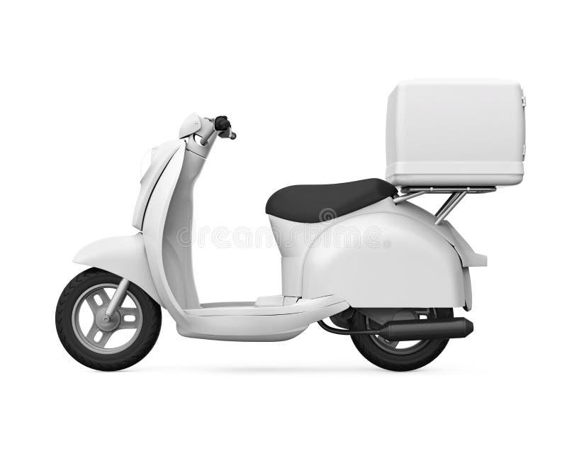 Caja de la entrega de la motocicleta ilustración del vector