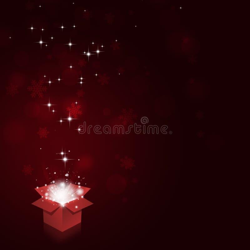 Caja de la magia de la Navidad stock de ilustración